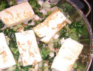 Tofu and bokchoy stirfry
